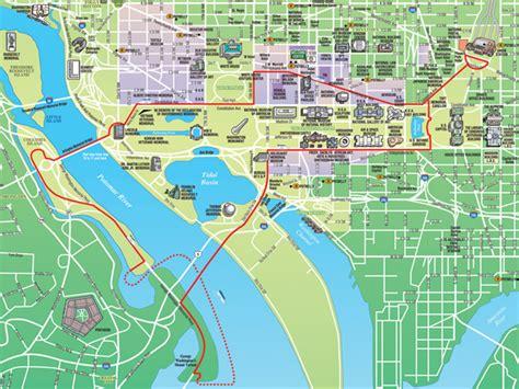 washington dc maps route map  dc ducks