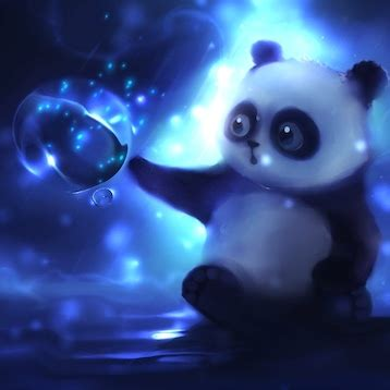 Animated Babies Wallpapers Free - panda with magic sphere animated wallpaper engine