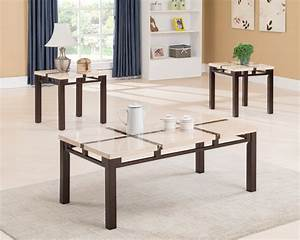 c6702 ivory faux marble 3 pack coffee table set With ivory marble coffee table
