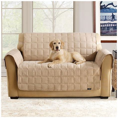 sure fit furniture covers sure fit waterproof quilted suede sofa pet cover 292842