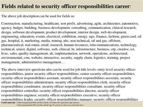 security guard duties resume