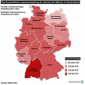 Lebenserwartung Männer Berechnen : lebenserwartung m nner deutschland von redaktion landkarte f r deutschland ~ Themetempest.com Abrechnung