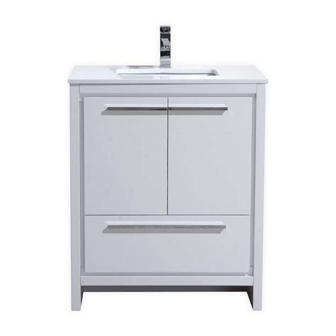 kubebath dolce  high gloss white modern bathroom vanity