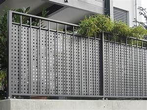 sichtschutz terrasse lochblech gt kollektion ideen garten With garten planen mit lochblech edelstahl balkon
