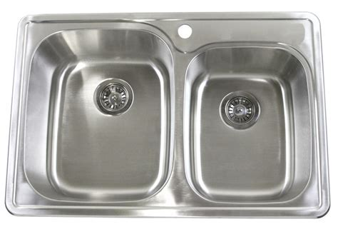 "33"" Top Mount / Drop In Stainless Steel Kitchen Sink"
