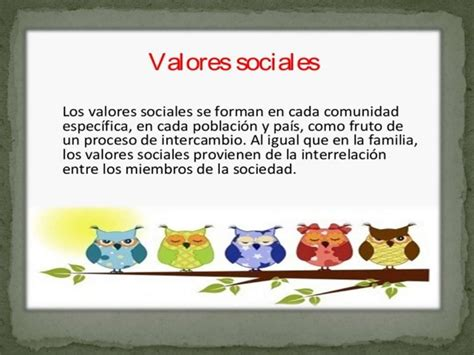 """""""valores Sociales"""""""