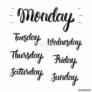 quottrendy hand lettering set of days of the week fashion With days of the week vinyl letters