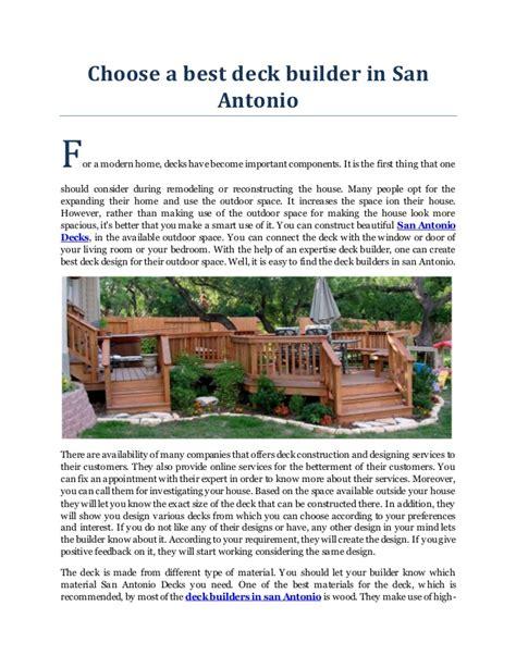 best deck builder in san antonio