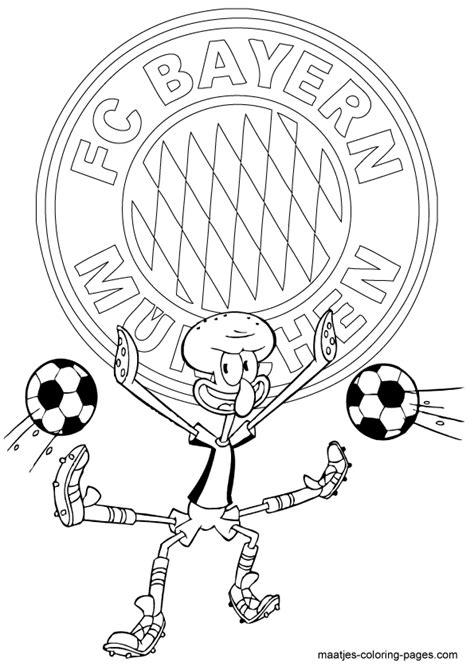 Kleurplaat Bayermunchen by Bayern Munchen Squidward Soccer Free Printable