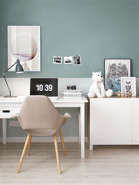 Workspace Inspiration 2 by 2 Couleurs Sur Mur Deco In 2019 Living Room Designs