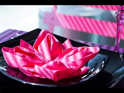 diy pliage de serviette facile fleur de lotus origami