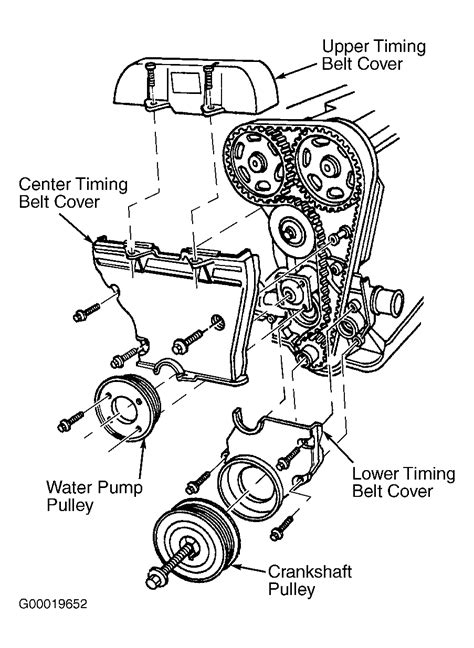 1996 ford contour serpentine belt routing and timing belt diagrams