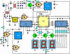 Digital Remote Thermometer Circuit With Receiver And Transmitter