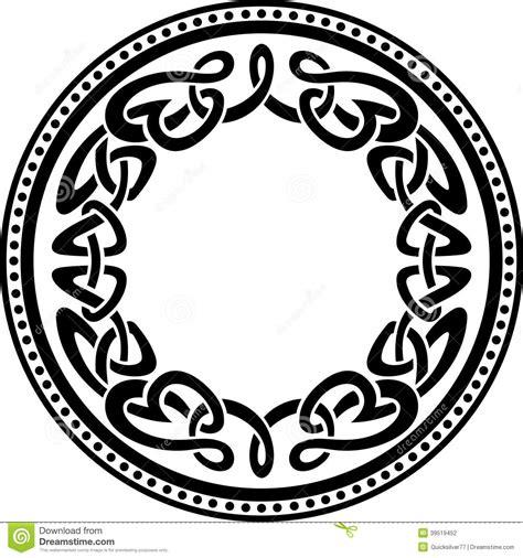 Celtic Round Pattern Border Stock Vector - Illustration of ...