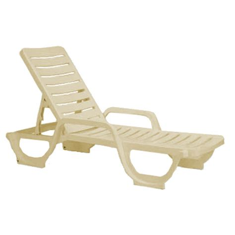 chaise en polypropylène chaise lounge plastic resin bahia