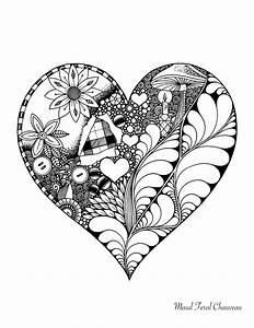 Dessin Saint Valentin : coloriage doodle coeur st valentin par maud feral ~ Melissatoandfro.com Idées de Décoration