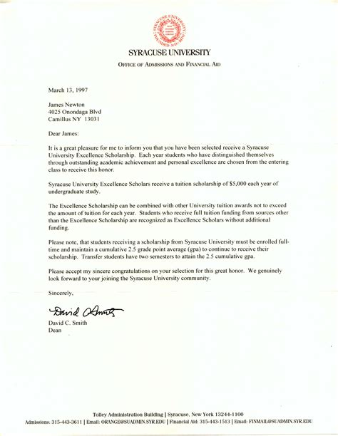 sample cover letters  scholarships cover letter