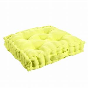 Coussin Vert Anis : coussin de sol 40 cm vert anis coussin de sol et pouf eminza ~ Teatrodelosmanantiales.com Idées de Décoration