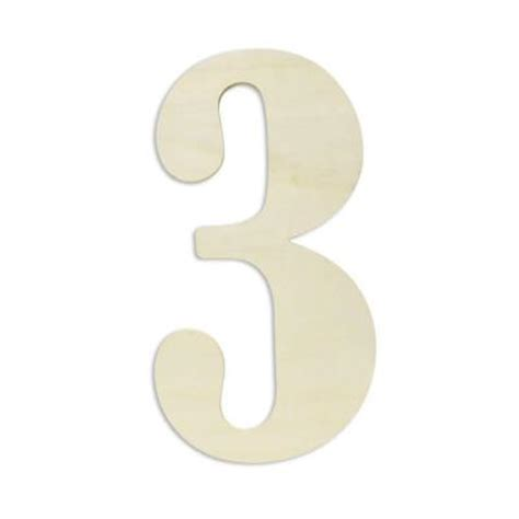 wooden numbers home depot jeff mcwilliams designs 18 in oversized unfinished wood number quot 3 quot 300422 the home depot