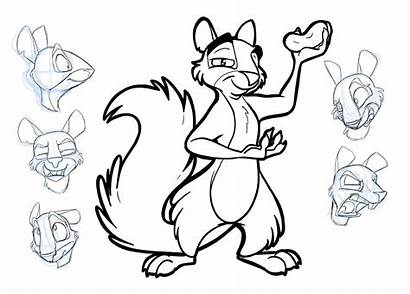 Job Nut Coloring Pages Squirrel Surly Deviantart