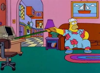 Simpsons Working Homer Simpson Meme Bart Cartoon