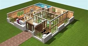 great plan maison d plain pied photos plan de with plan de With amazing logiciel pour maison 3d 2 plans de maison en 3d construire avec maisons den flandre