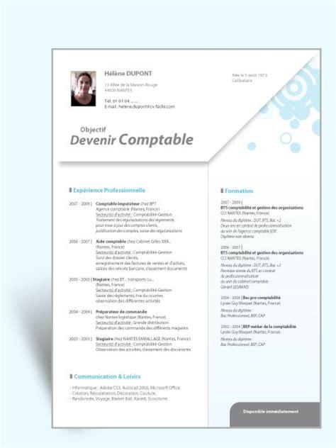 Maquette Cv Gratuit by Mod 232 Le Cv Original Comptable Ii Deco