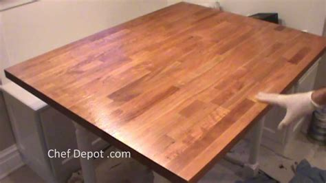 kitchen table island refinish butcher block
