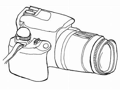 Camera Pencil Lens Coloring Sketch Template