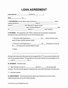 Free loan agreement templates pdf word eforms free for Personal loan document free
