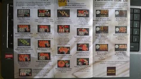 bar le bureau le havre a la carte picture of hanami sushi bar le havre