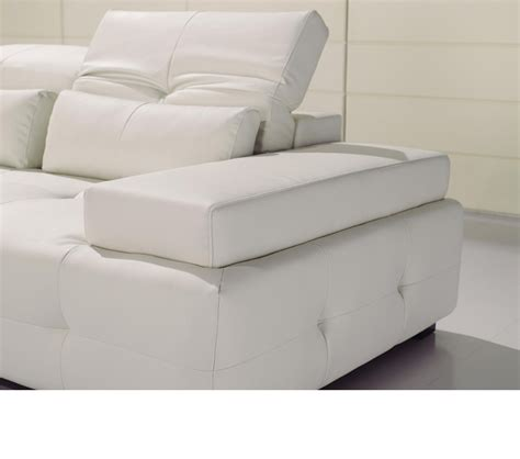 contemporary white leather sofa dreamfurniture com t90 modern white leather sectional sofa