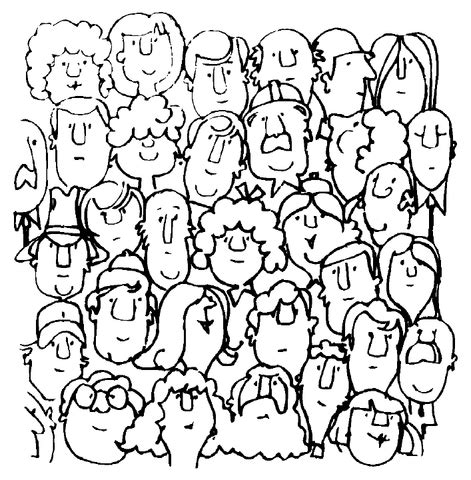 people community coloring page supercoloringcom
