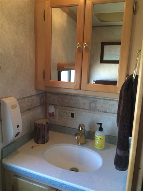 Rv Bathroom Vanity by Photo Tour Our 40 Foot Diesel Rv After 4 Months Rv