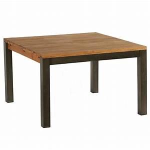 Table Carree Chene : vente table repas carr e en ch ne huil et m tal 125 x 125 cm ~ Teatrodelosmanantiales.com Idées de Décoration