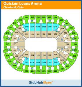 quicken loans arena seating chart pictures directions