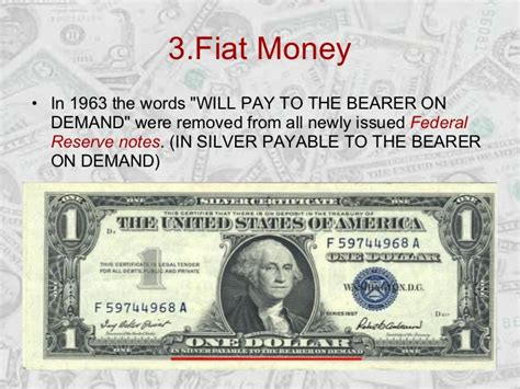 History Of Fiat Currency by 3 Fiat Money In 1963 The
