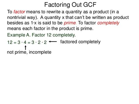 8 Factoring Out Gcf
