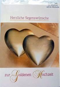 Glückwunschkarten Zur Goldenen Hochzeit : gl ckwunschkarte zur goldenen hochzeit ~ Frokenaadalensverden.com Haus und Dekorationen