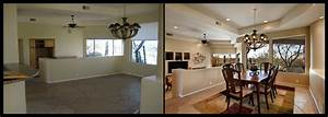 home staging dining table before and after idolza With interior decorating ideas before and after
