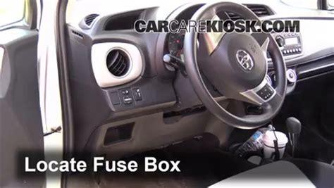 interior fuse box location   toyota yaris  toyota yaris    cyl hatchback