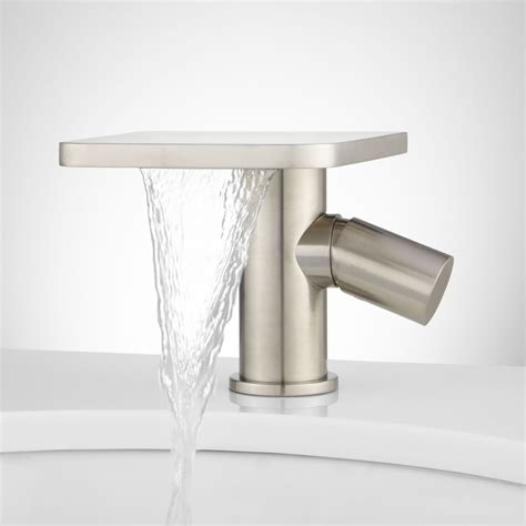 one hole sink faucet knox single hole waterfall bathroom faucet with pop up