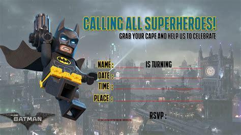 printable lego batman   invitation template