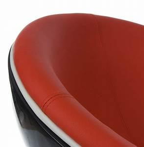 Fauteuil Boule SPHERA Noir Et Rouge Rotatif Fauteuil Design