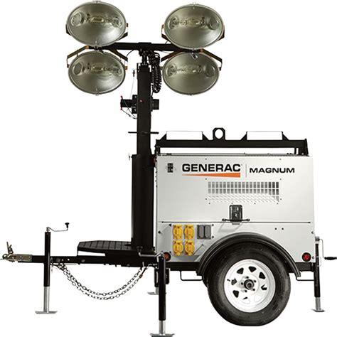 magnum light towers generac magnum mlt4080kv mobile light tower 8000 watts