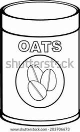 Oat Coloring Meal Oats Vector Template Pages Sketch Bottle Pic sketch template