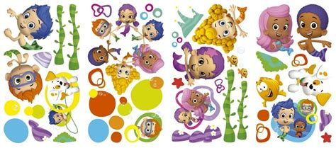 bubble guppies wall decals nickelodeon stickers kids