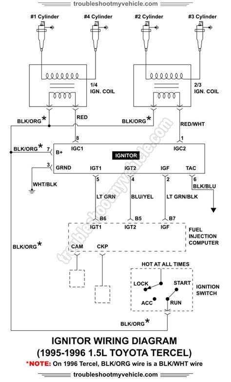 1995 Toyotum Tercel Ignition Wiring Diagram ignitor wiring diagram 1995 1996 1 5l toyota tercel