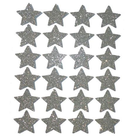 glitzer zum aufkleben 24 silberne glitzer sterne zum dekorieren und basteln www cartissimi