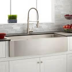 stainless steel farmhouse kitchen sink sleek farmhouse sink signature hardware 8235